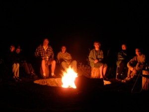 Tales around the campfire.