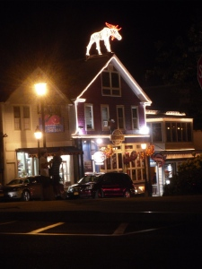 The shops in Bar Harbor ME are open late in the summer.