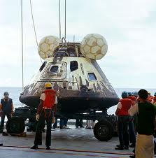 Image of Apollo 13 after retrieval