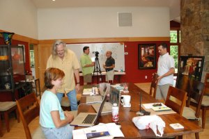 Image of the Kadoo team sketching the first company video.