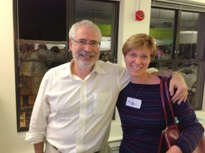 Image of Steve Blank and Marcia Moran following Starup Gind DC launch.